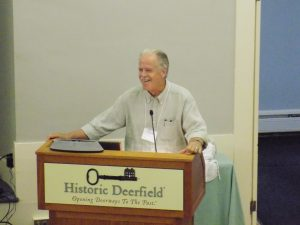 Photo of Craig Evans at the Flax & Linen Symposium 2016