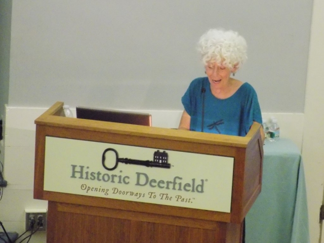 Photo of Faith Deering at the Flax & Linen Symposium 2016