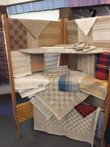 Photo of Linen Weaving display at the Flax & Linen Symposium 2016